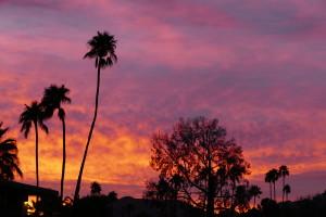 Lovely sunrise over Palm Springs